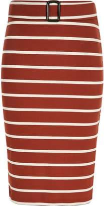 River Island Girls rust stripe tube skirt