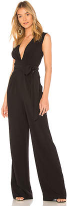 Halston V Neck Wide Leg Jumpsuit