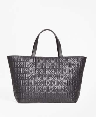 """Brooks Brothers BB"""" Quilted Leather Tote Bag"""