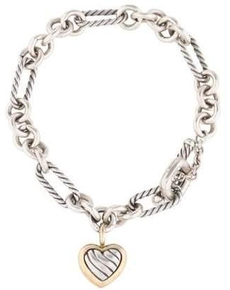 David Yurman Cable Heart Charm Bracelet