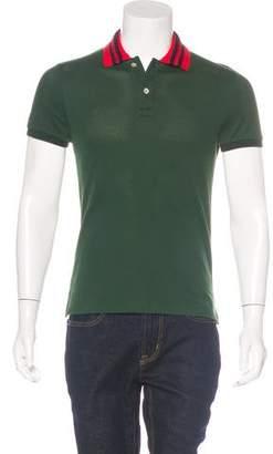 Gucci 2017 Snake Piqué Polo Shirt