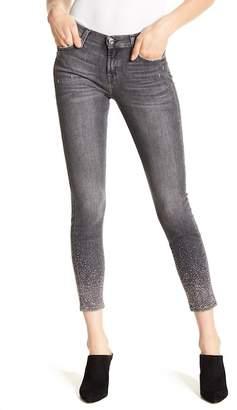 7 For All Mankind Skinny Crop Crystal Hem Jeans