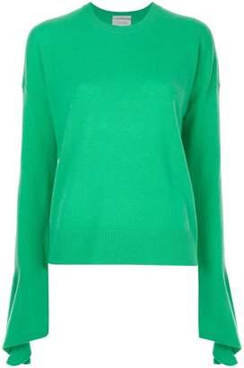 CK Calvin Klein flared sleeve knitted jumper
