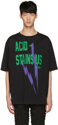 Haider Ackermann Black 'Acid' T-Shirt $385 thestylecure.com