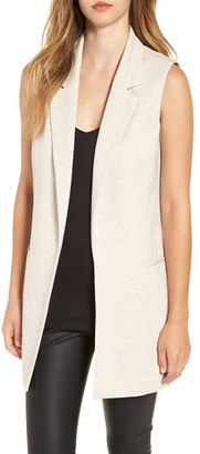 Women's Leith Stretch Ponte Long Vest $79 thestylecure.com
