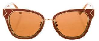 Tory Burch Tinted Logo Sunglasses