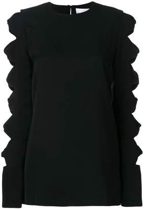Victoria Victoria Beckham cut out sleeve top