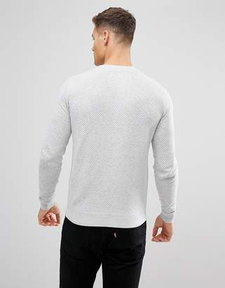 Threadbare Perfirated Textured Knit Sweater