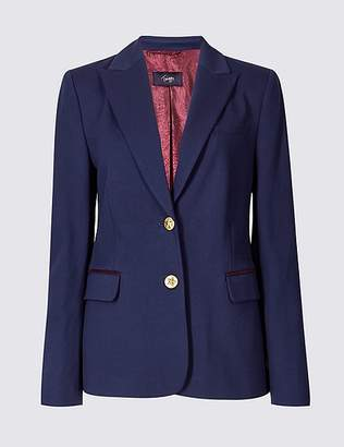 Marks and Spencer Classic Elbow Patch Blazer