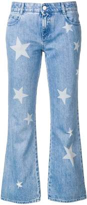 Stella McCartney star print cropped jeans