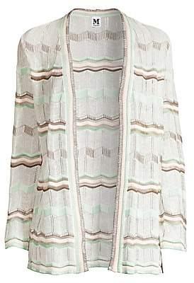 M Missoni Women's Striped Chevon Knit Cardigan