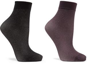 Wolford Set Of Two Lurex Socks - Black