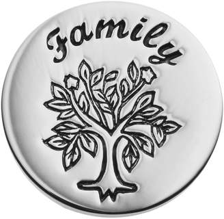 """Blue La Rue Stainless Steel """"Family"""" Tree Coin Charm"""