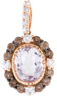 Le Vian Amethyst, Sapphire & Smoky Quartz Pendant w/ Tags $675 thestylecure.com