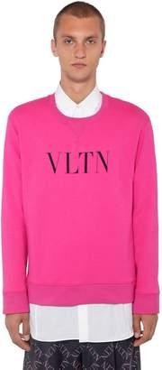 Valentino Logo Printed Crewneck Sweater