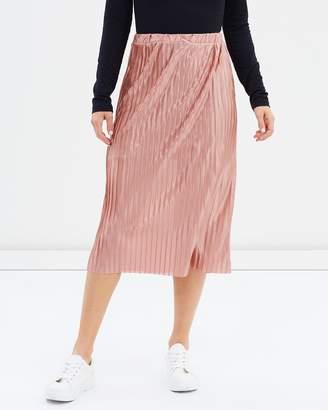 Miss Selfridge Pleated Midi Skirt