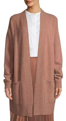 Vince Open-Front Patch-Pocket Cashmere Cardigan