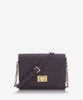 GiGi New York Catie Crossbody, Blackberry Embossed Python