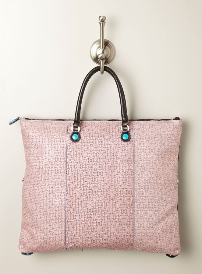 Gabs Large Andawsia Woven Convertible Bag, Pink