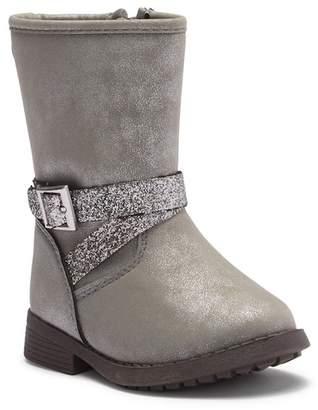 Osh Kosh OshKosh Elsa Embellished Glitter Strap Boot (Toddler & Little Kid)