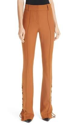 Veronica Beard Halsey Lace-Up Hem Pants