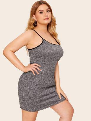 Shein Plus Contrast Binding Cami Dress