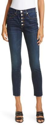 Veronica Beard Debbie Raw Hem Crop Skinny Jeans
