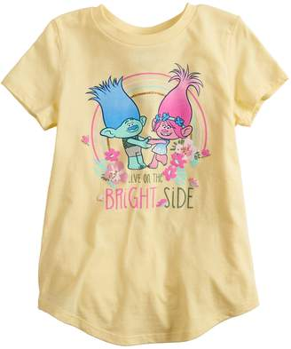 "Girls 4-12 Jumping Beans Dreamworks Trolls ""Live On The Bright Side"" Graphic Tee"