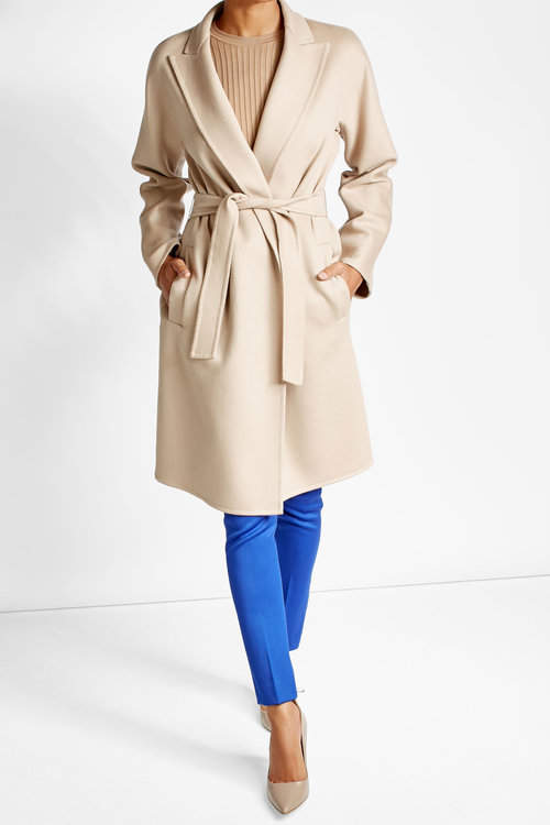 Max Mara Max Mara Virgin Wool Coat with Angora
