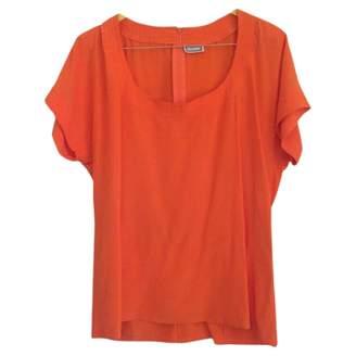 Gianni Versace Orange Silk Top for Women Vintage