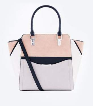 a305669606 New Look Mink Colour Block Structured Tote Bag
