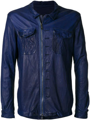 Giorgio Brato creased zipped jacket