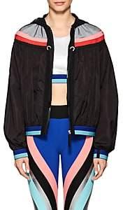 NO KA 'OI No Ka'Oi Women's Kuke Crop Hooded Jacket-Black