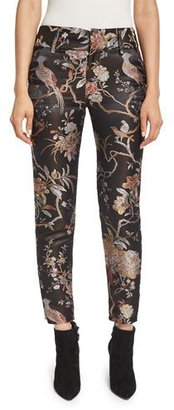 Alice + Olivia Stacey Floral-Print Ankle Trousers, Burgundy $450 thestylecure.com