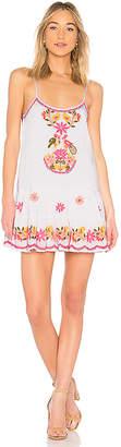 Juliet Dunn Embroidered Bird Dress