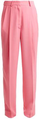 Maison Margiela Pleated-front tailored crepe trousers