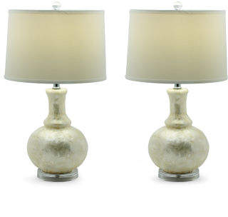 Set Of 2 Shelley Gourd Table Lamp