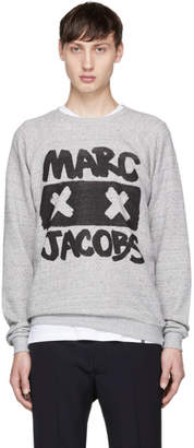 Marc Jacobs Grey Logo X-Face Sweatshirt