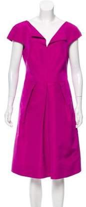 Oscar de la Renta Paneled Silk Dress