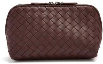 Bottega Veneta Intrecciato zip-around leather make-up bag