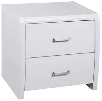 Glossy White Jameson Bedside Table