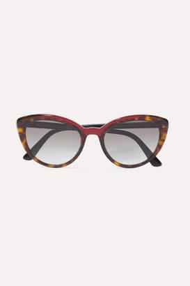 Prada Cat-eye Tortoiseshell Acetate Sunglasses