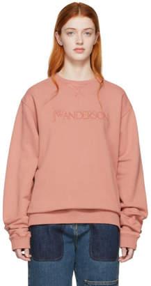 J.W.Anderson Pink JWA Logo Embroidery Sweatshirt