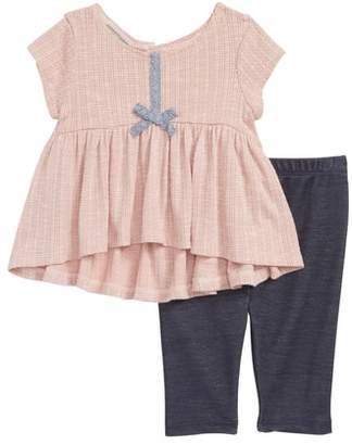 Pippa Pastourelle by & Julie Cap Sleeve High/Low Dress & Leggings Set