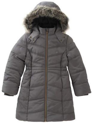 Calvin Klein Aerial Faux Fur-Trimmed Jacket