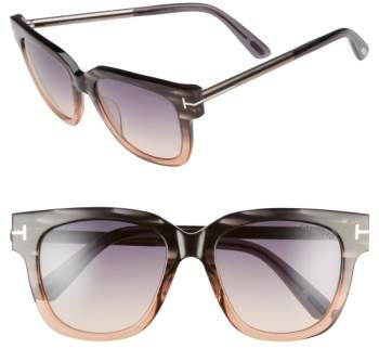 Women's Tom Ford 'Tracy' 53Mm Retro Sunglasses - Grey/ Gradient Smoke