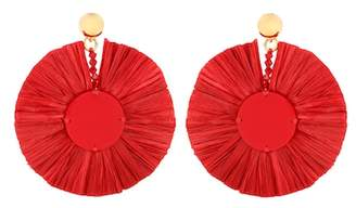 Oscar de la Renta Raffia earrings