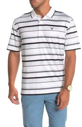 Callaway GOLF Opti-Dry Short Sleeve Stripe Print Golf Polo