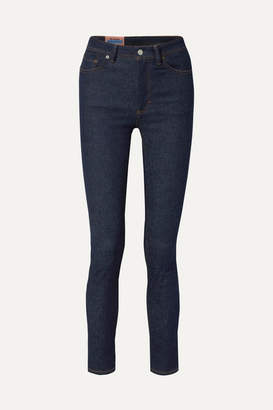 Acne Studios Peg High-rise Skinny Jeans - Dark denim