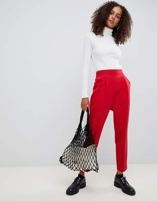 Asos Design DESIGN high waist tapered pants